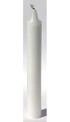 "White 6"" Taper Candle"
