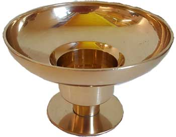 "Brass Universal candle holder 4 1/4"" dia"