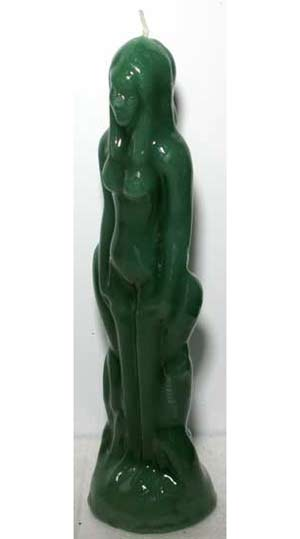 Green Female Iconic Candle