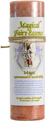 Magic Pillar Candle with Fairy Dust Necklace