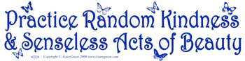 Practice Random Kindness & Senseless Acts of Beauty bumper sticker