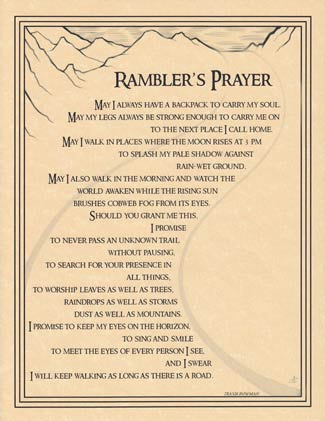 Rambler`s Prayer Poster