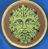 Green Man iron-on patch 3""