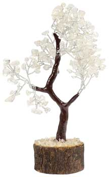 Clear Quartz Gemstone Tree
