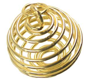 Large Gold Plated Coil