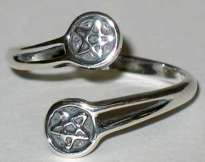 Pentacle, adjustable Ring