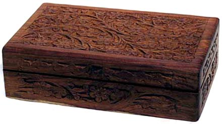 Large Handcrafted Box with Floral Design