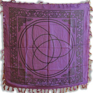 Purple Triquetra Altar or Tarot Cloth