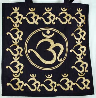 Black and Gold Om Tote Bag
