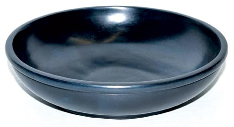 Large Black Stone Scrying Bowl