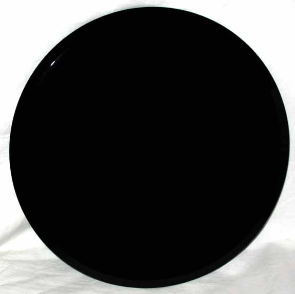 "Beveled Edge Black Scrying Mirror 12"" diameter"
