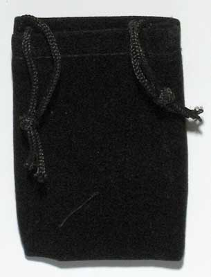 Black Velveteen Bag (2 x 2 1/2)