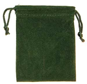 Green Velveteen Bag (3 x 4)