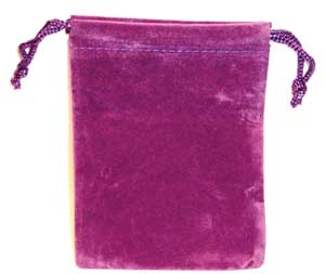 Purple Velveteen Bag (3 x 4)